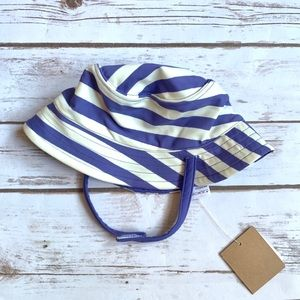 TEA Swim Bathing Suit Hat Striped Reversible Baby